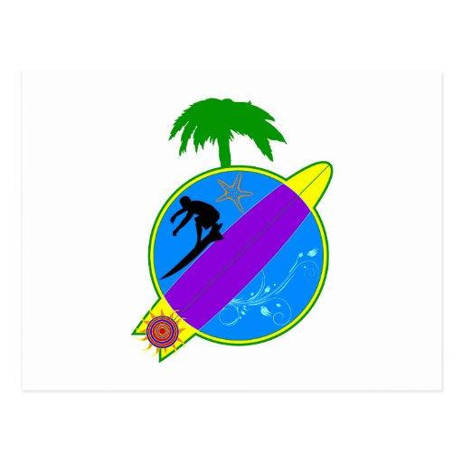 Surfer.png tropical tarjeta postal