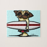 Surfer Pug Jigsaw Puzzle