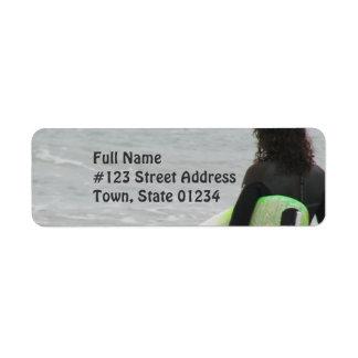 Surfer Return Address Mailing Label