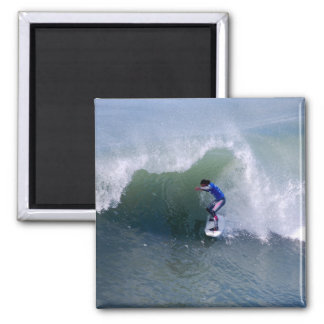 Surfer Riding in the Curl Magnet