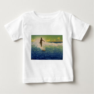 Surfer riding wave, Hawaii Baby T-Shirt