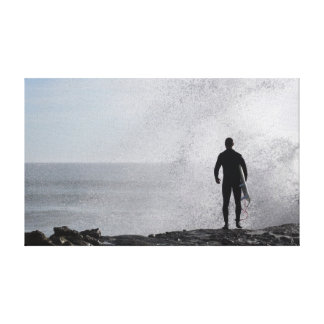 surfer silhouette 1 stretched canvas prints