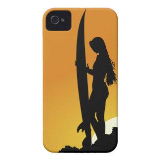 Surfer Silhouette BlackBerry Bold Case