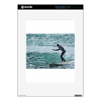 surfer decal for iPad