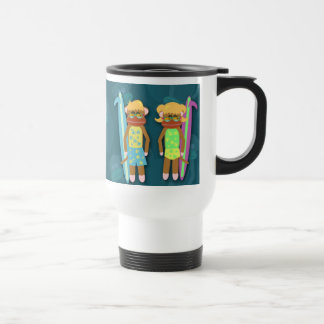 Surfer Sock Monkey Mug