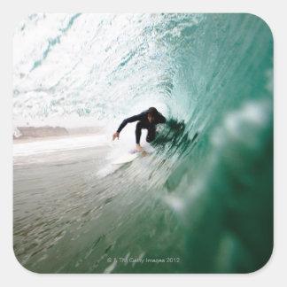 Surfer Square Sticker
