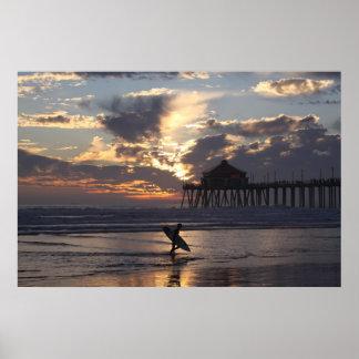 """Surfer """" Surf City Poster"""