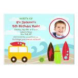 "Surfer Surf Photo Birthday Party invitations 5"" X 7"" Invitation Card"