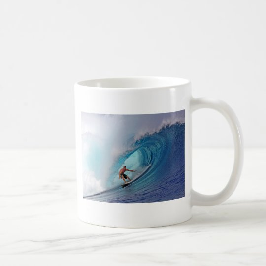 Surfer Surfing A Huge Wave Coffee Mug Zazzle