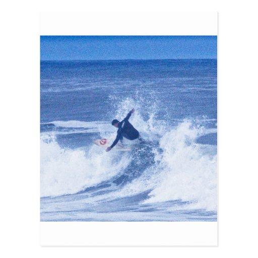 Surfer Surfing Hands Hanging Out HDR Postcard