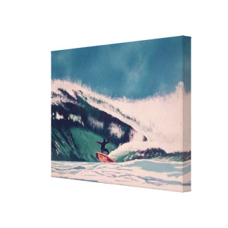 Surfer surfing in California Canvas Art Painting