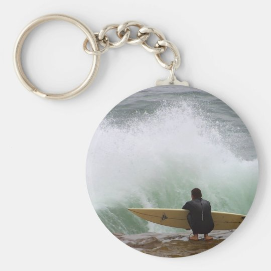 Surfer Surfing Keychain