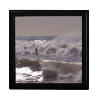 Surfer Surfing Ocean Beach Waves Sea California Jewelry Box
