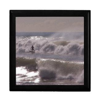 Surfer Surfing Ocean Beach Waves Sea California Keepsake Box