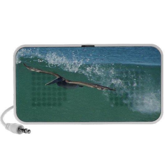 Surfer Surfing Ocean Beach Waves Sea California Portable Speaker