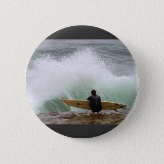 Surfer Surfing Pinback Button