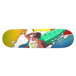Surfer Surfing Skate Board Deck Design SurfArt