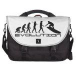 Surfer Surfing Sport Evolution Art Laptop Bags