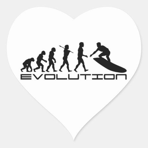 Surfer Surfing Sport Evolution Art Stickers
