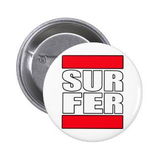 surfer surfing Surf t shirt Pin