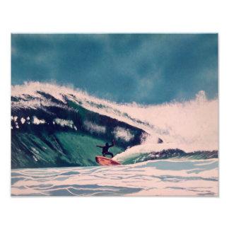 Surfer surfing the ocean blue California tuberide Photo Print
