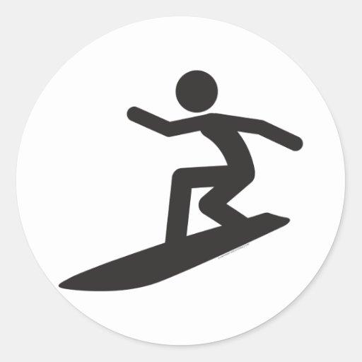 Surfer-T Round Sticker