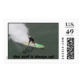 surfer, the surf is always up! postage stamps