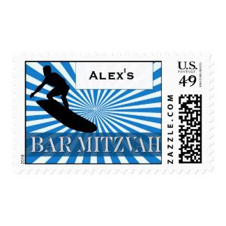 Surfer theme Bar Mitzvah Postage