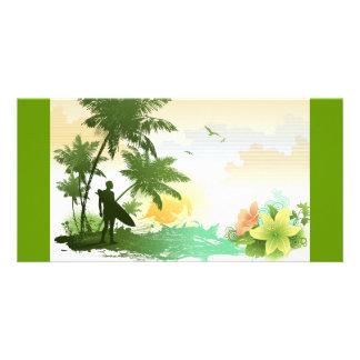 Surfer Theme Photo Card Template