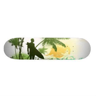 Surfer Theme Skateboard Deck