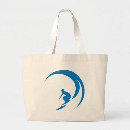 Surfer Tote Bags