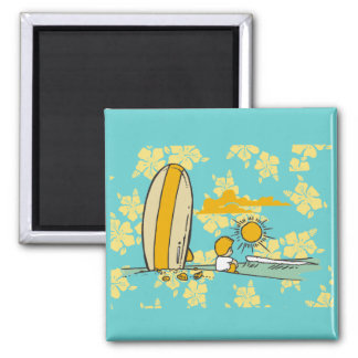 Surfer Tshirts and Gifts 2 Inch Square Magnet