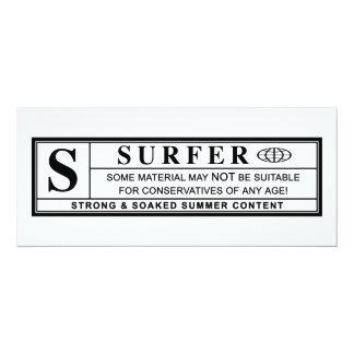 surfer warning label card