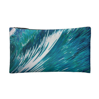 Surfer Wave Cosmetic Bag created by Margaret Juul