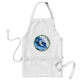 Surfer With Bamboo Frame Adult Apron