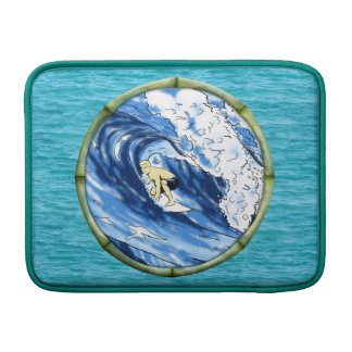 Surfer With Bamboo Frame MacBook Air Sleeve