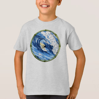 Surfer With Bamboo Frame T-Shirt