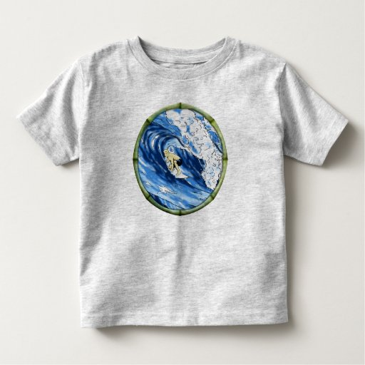 Surfer With Bamboo Frame Tshirt
