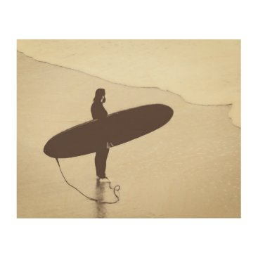 Beach Themed Surfer Wood Wall Decor