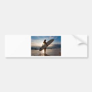 surfergirl.jpg car bumper sticker