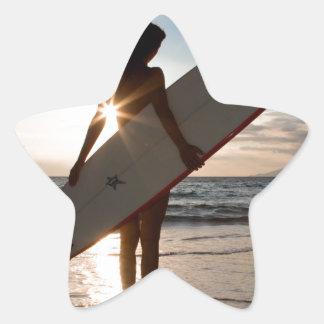 surfergirl.jpg star sticker