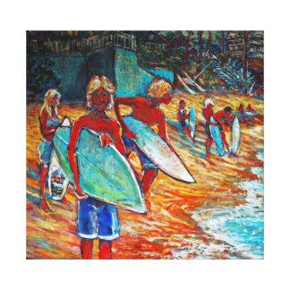 Surfers At Laguna Beach Canvas Print