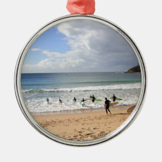 Surfers At Manly Beach, Australia Metal Ornament