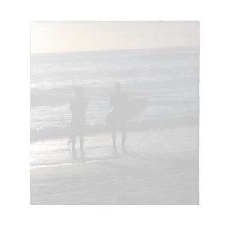 Surfers at Sunset Notepad