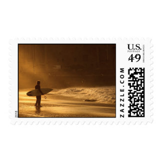 Surfers at Sunset Postage
