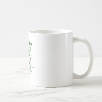surfers code-green.png classic white coffee mug