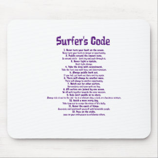 surfers code-purple.png mouse pad