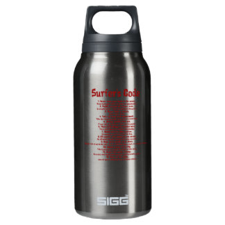 Surfers code watterbottle in red 10 oz insulated SIGG thermos water bottle