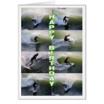 Surfers Collage Happy Birthday Card
