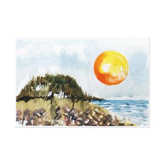 Surfer's Cove Canvas Print